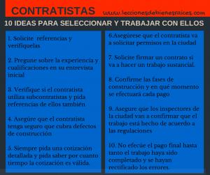 Contratistas